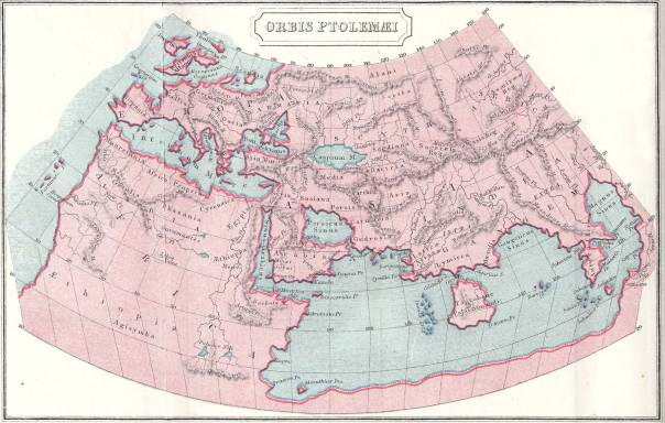 Clarified Ptolemy's map