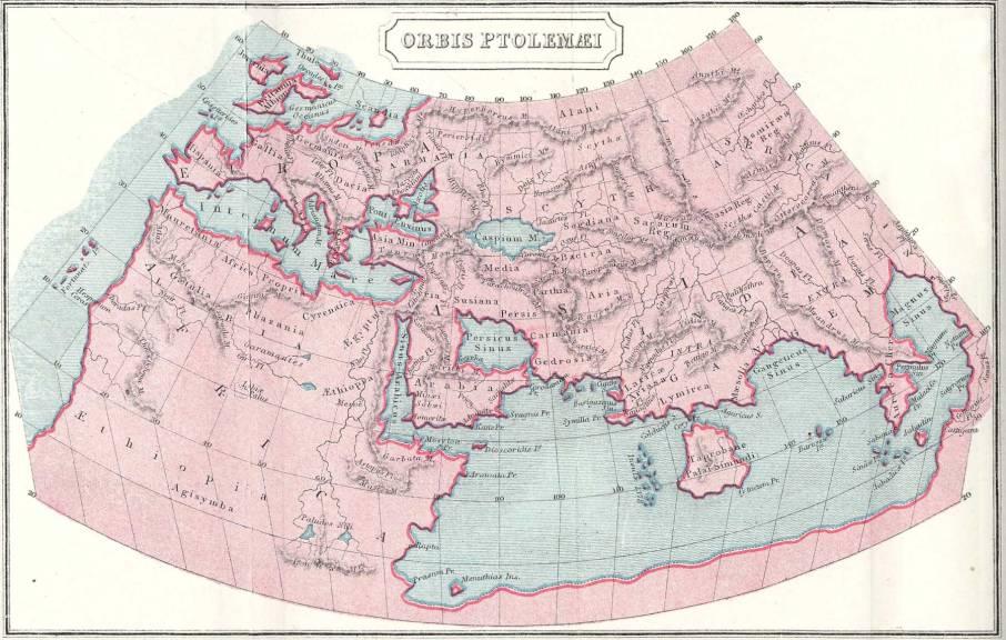 Clarified Ptolemy's map
