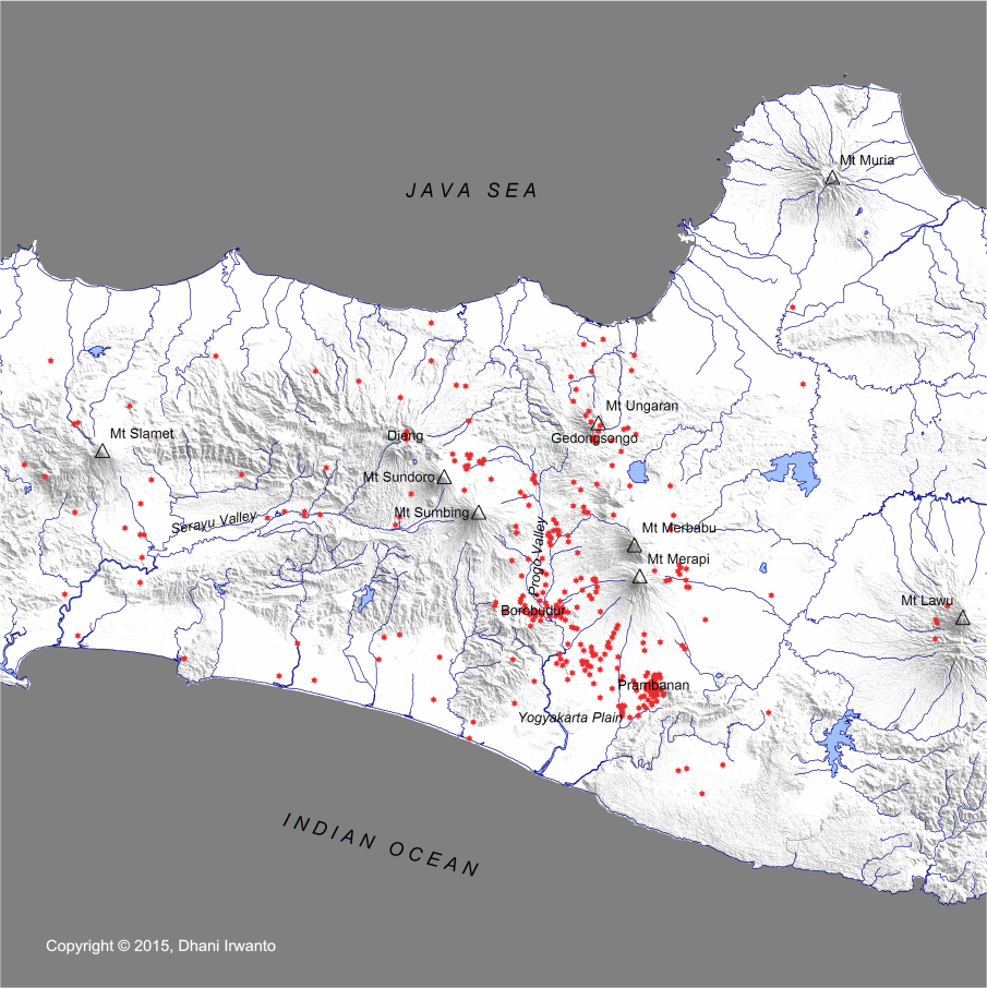 Distribution of Central Java Temples (2)
