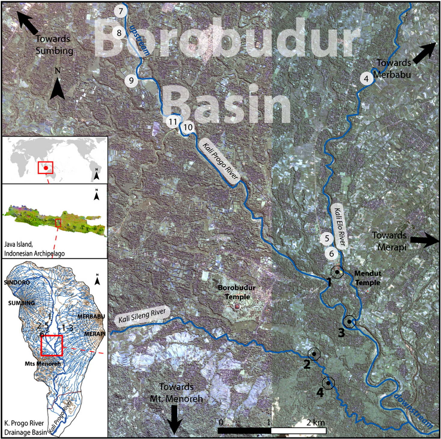 Location of the Borobudur basin and location of the four deep cores (Gomez et al, 2010)