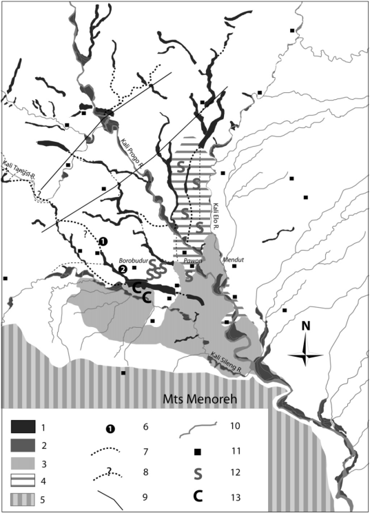 Synthetic map of the Borobudur basin (Gomez et al, 2010)